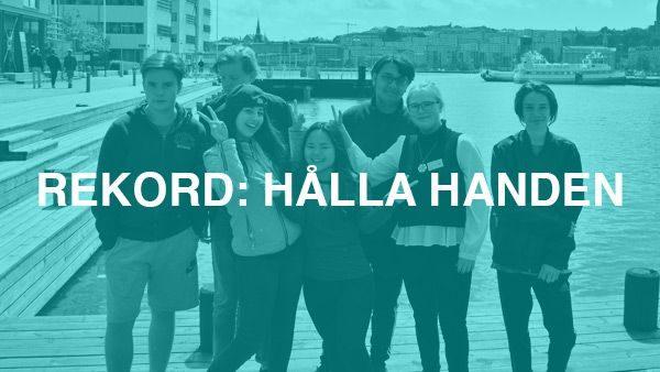 Rekord hålla handen – Projektet som vill visa ett enat Göteborg #Gbgföralla