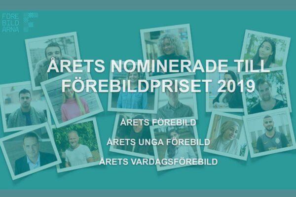 15 nominerade till Förebildspriset