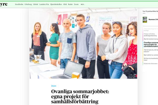 Ovanliga sommarjobbet: egna projekt för samhällsförbättring